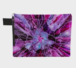 Pink & Mauve Abstract Alcohol Ink Art Bloom preview