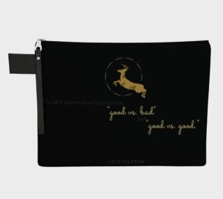 Tolstoy Quote Zippered Carry-All preview