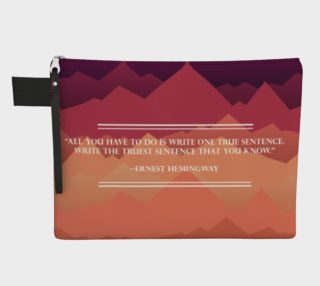 Hemingway Quote Zippered Carry-All preview