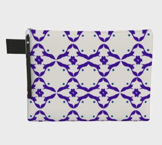 Luxury vint. bag mexicana blue blocks preview