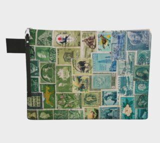 Aperçu de Swamped - Vintage Postage Stamp Collage