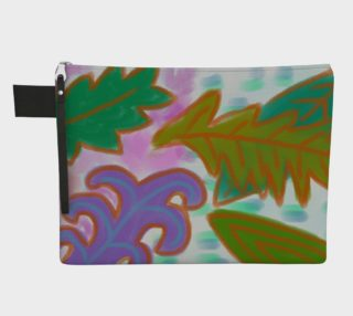 Aperçu de Leaves Abstract Art Clutch Bag