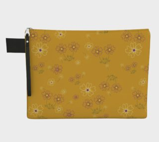 Charming Blooms on Tangerine Carry-all Pouches preview