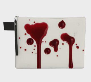 Blood Splatter four zipper carry all preview