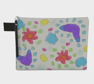 Aperçu de Abstract Floral Art Clutch Bag