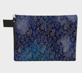 Aperçu de Under The Sea Zippered Carryall - Blue Foil