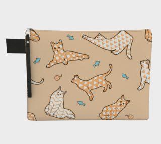 Aperçu de Kitties - Beige Zippered Carryall