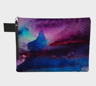 Vibrant Watercolor Zipper Carry All preview