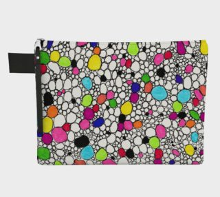 Colored Circles and  Other Shapes  zipper carry-all preview