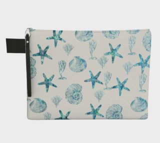 Zipper Carry All Pouch, Seashell Pouch preview