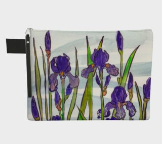 Japanese Irises Zipper Carry-All preview