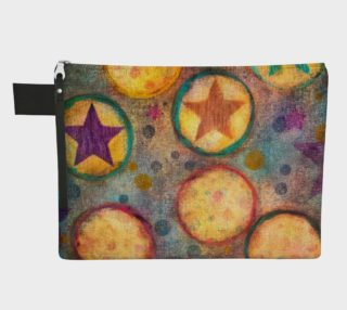 Circus Print Zipper Carry-All preview