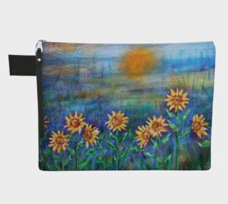 Sunflower Field Zipper Carry-All preview
