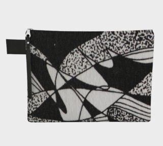 Aperçu de Poche fourre-tout-Griffe Noir et blanc-micheline-plante