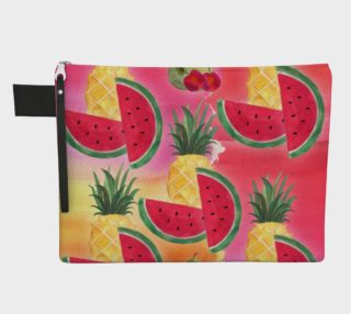 Aperçu de Watercolor Fruit Watermelon Pineapple Pear Cherry Carry-All Bag