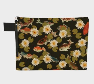 Koi & Lily Pads in Dark Water - Zipper Carry-all preview