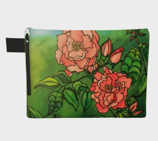 Stylized Rose Zipper Carry-All preview