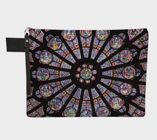Rose South Window, Notre Dame Paris Zippered Carry-All preview