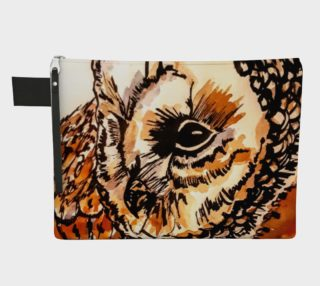 Owl Feather Zipper Carry All preview