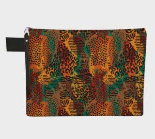 Safari Animal Print Mashup Zipper Carry-All preview
