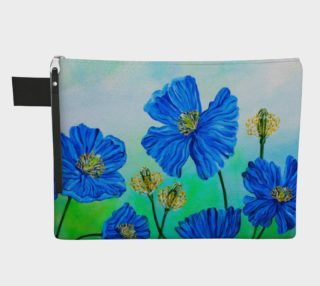 Supersized Blue Poppy Zipper Carry-All preview