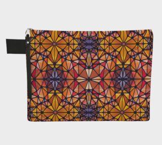 Amber Kaleidoscope Zipper Carry-All preview