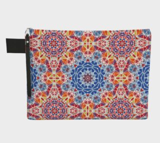 Blue and Orange Kaleidoscope Zipper Carry-All preview