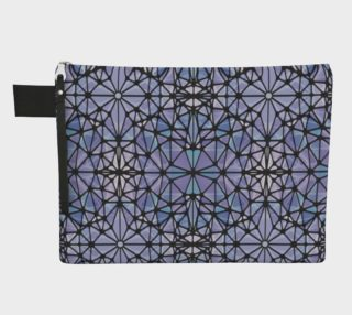 Purple and Blue Kaleidoscope Zipper Carry-All preview