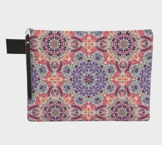 Purple and Pink Kaleidoscope Zipper Carry-All preview