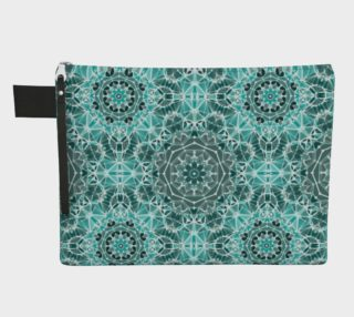 Turquoise & Gray Kaleidoscope Zipper Carry-All preview
