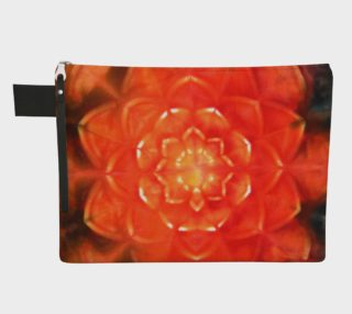 Orange Lotus Zipper Pouch preview