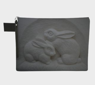 Pretty Bunnies, Zipper Carry-All Bag preview
