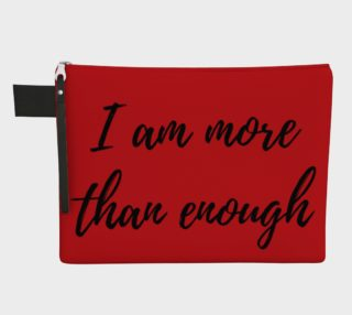 I am more than enough Zipper carry all preview