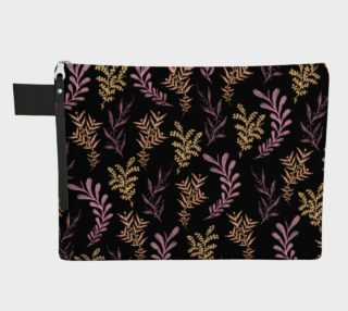 Bronze and Black Floral Pattern Carry All preview