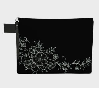 Black and White Floral Ornaments Carry-All preview