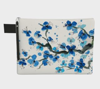 Blue Japanese Blossoms Zipper Carry-All preview