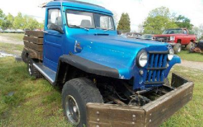 Photo 1955 Willys Jeep Custom Pickup Flat-Bed