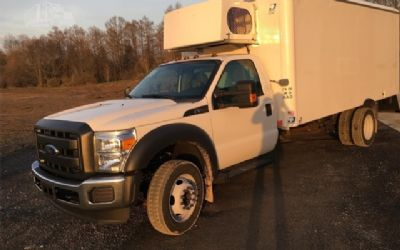 Photo 2015 Ford F550 BOX Truck With 17 Johnson Reefer Body