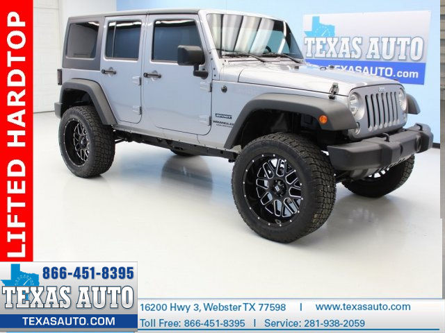 Photo 2015 Jeep Wrangler Unlimited SPORT 4X4 LIFTED HARDTOP CLOTH