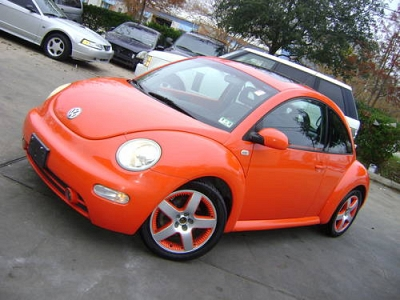 Photo 2002 VW BEETLE GLS TURBO, AUTO, LEATHER, SUNROOF, ORANGE, ONLY 99K, AL