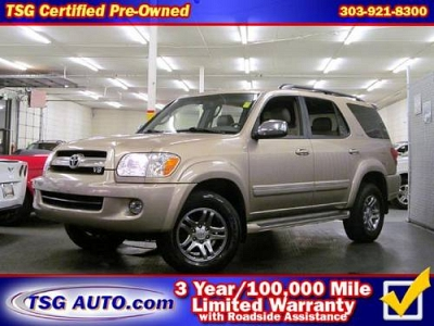 Photo 2007 Toyota Sequoia  Limited 4.7L V8 4WD Leather Sun Roof 3rd Row DVD