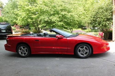 Photo 1997 Pontiac TransAm  Convertible LT1 Ram Air Fire Engine Red