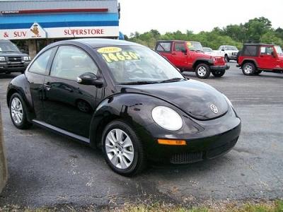 Photo 2008 VW Beetle Coupe Bug 53k Black Tan Leather