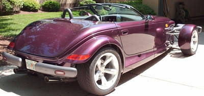 Photo 1999 Plymouth Prowler purple 2 door roadster convertible