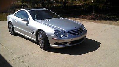 Photo 2004 MERCEDES BENZ SL55 AMG CONVERTIBLE SILVER LOADED LIKE NEW