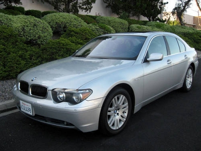 Photo 2003 BMW 745i Sedan with 64K Miles, Silver on Black Leather