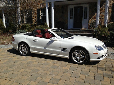 Photo 2008 Mercedes Benz SL 550 Roadster AMG WhiteRed 19k Miles
