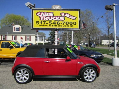 Photo 2005 Mini Cooper S - Red, Manual - Great on Gas - CONVERTIBLE TOP