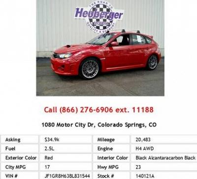 Photo 2011 Subaru Impreza Wrx Sti Red Wagon H4