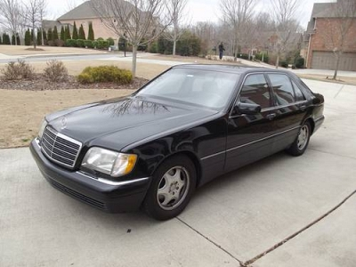 Photo 1998 Mercedes Benz S500 Black Black interior - all records - warranty